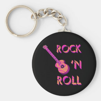 Rock 'n Roll Acoustic Guitar Keychain