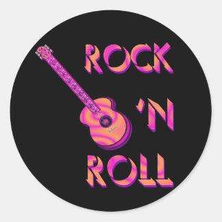 Rock 'n Roll Acoustic Guitar Sticker