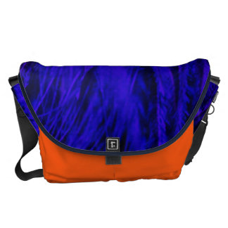 Rock n' Roll Blue & Orange Beast Large Messenger Commuter Bags