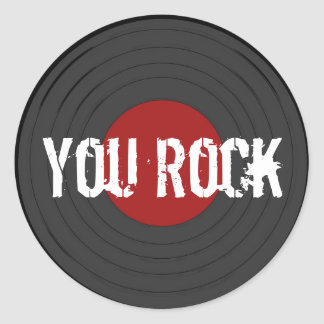 Rock N Roll Classic Round Sticker