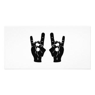 Rock n Roll Devil Horns Picture Card