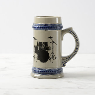 ROCK N ROLL DRUMS BEER STEIN