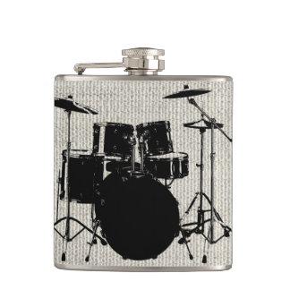 Rock n Roll Drums Hip Flask