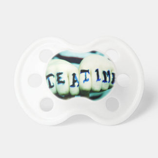 Rock n Roll Dummy Cool Awesome Baby, Tattoo Style Pacifier
