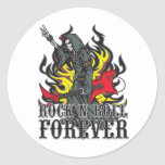 Rock N Roll Forever Round Sticker
