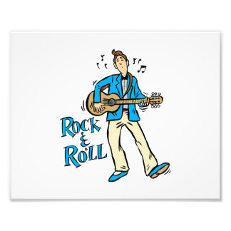 rock n roll guy playing guitar blue png photo