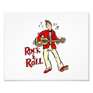 rock n roll guy playing guitar red png photo art