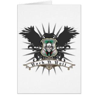 Rock n Roll Heraldry Greeting Card