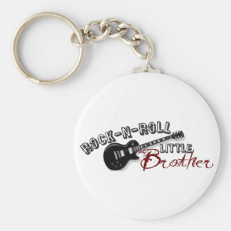 Rock-n-Roll Little Brother Basic Round Button Key Ring