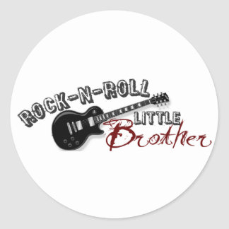 Rock-n-Roll Little Brother Round Sticker