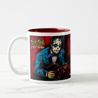 Rock n Roll Maniac Rockabilly Two-Tone Coffee Mug