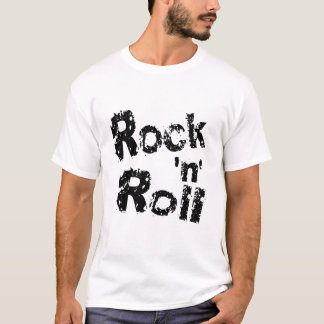 Rock n Roll,  men's white t-shirt. T-Shirt