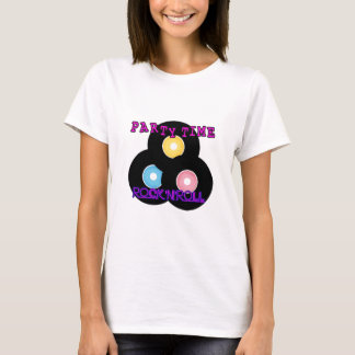 Rock 'n' Roll Retro Party Time T-Shirt