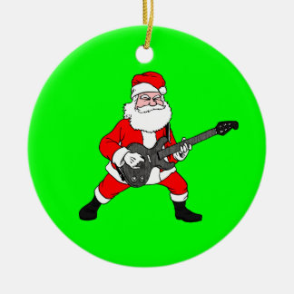 Rock N Roll Santa Claus Christmas Ornament