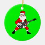 Rock N Roll Santa Claus Christmas Tree Ornaments