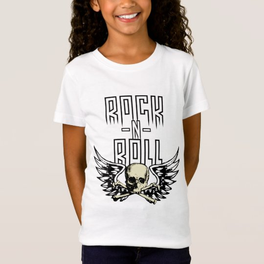 Rock n Roll Skull With Wings T-Shirt