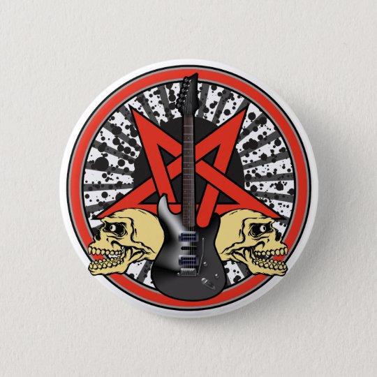 Rock n Roll Star 6 Cm Round Badge
