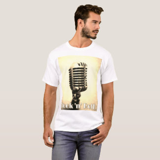 ROCK N ROLL VINTAGE MICROPHONE DESIGN T-SHIRT