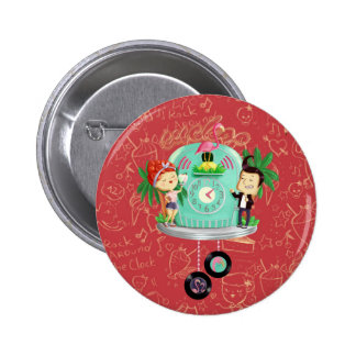 Rock 'n' Roll Wallclock 6 Cm Round Badge