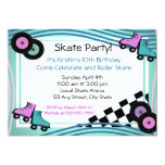Rock N' Roller Skate 13 Cm X 18 Cm Invitation Card