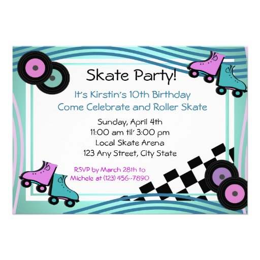 Rock N' Roller Skate Personalized Announcements