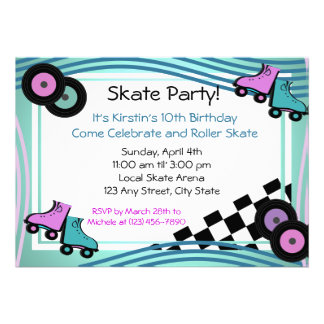 Rock N Roller Skate Personalized Announcements