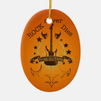 Rock Never Dies (black) - For Music Fans Christmas Ornament