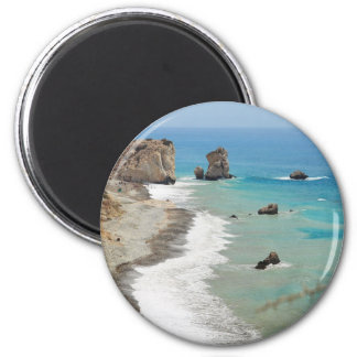 Rock Of Aphrodite, Cyprus 6 Cm Round Magnet