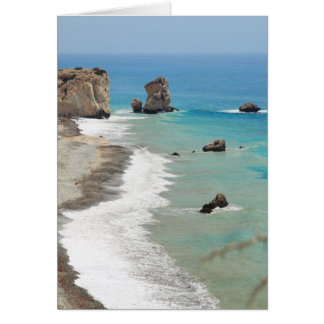 Rock Of Aphrodite, Cyprus Card