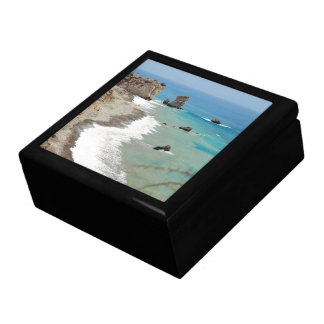 Rock Of Aphrodite, Cyprus Large Square Gift Box