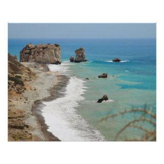 Rock Of Aphrodite, Cyprus Poster