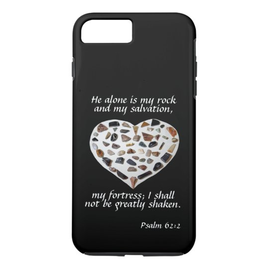 Rock of My Salvation Bible Verse Black Phone Case
