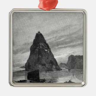 Rock of the Little Orphan on the Yangtze River Christmas Ornament