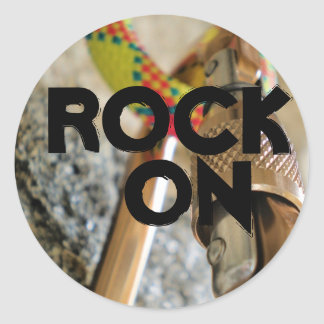 rock on...climbing sticker