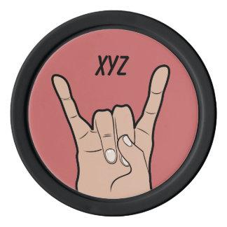 ROCK ON custom monogram poker chips