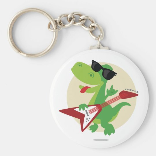 Rock On! Dinosaur Keychain