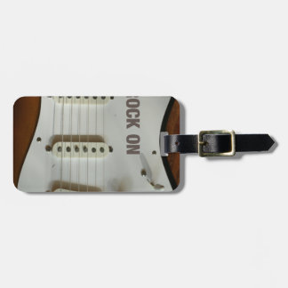 Rock On Electric Guitar Luggage Tag