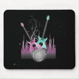 rock on electric guitars vector mouse pads