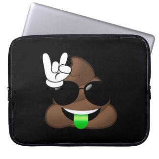 Rock On Emoji Poop Laptop Sleeve