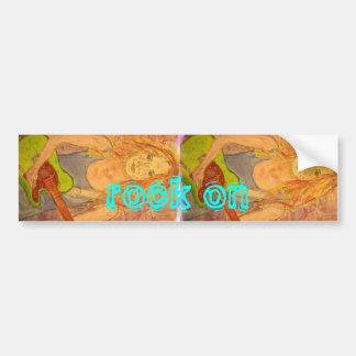 Rock On Girl Bumper Sticker