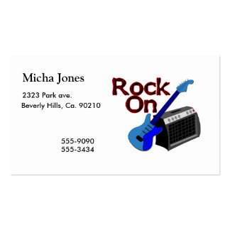 Rock On Guitar & Amp Business Card Template