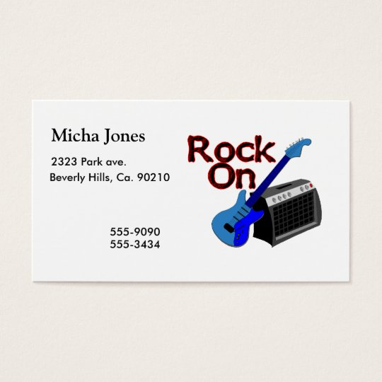 Rock On Guitar & Amp Business Card