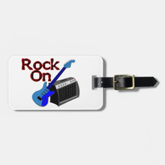 Rock On Guitar & Amp Luggage Tag