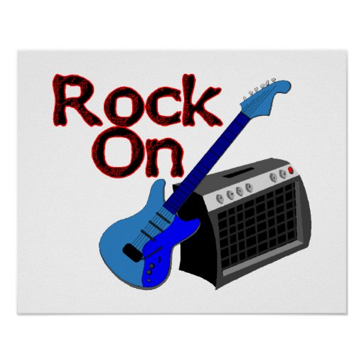 Rock On Guitar & Amp Posters