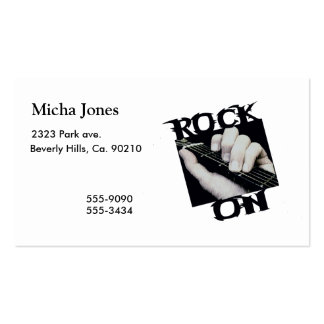 Rock On Guitar Player Pack Of Standard Business Cards