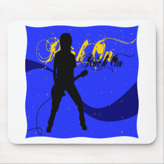 Rock On Guitarist Mouse Pad