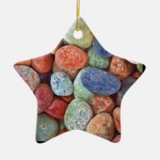 Rock On Multicolored Rocks Christmas Ornament