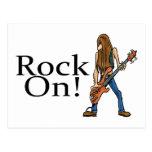 Rock On Postcard