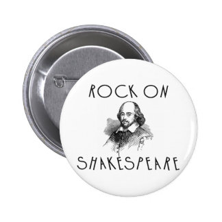 Rock On Shakespeare 6 Cm Round Badge