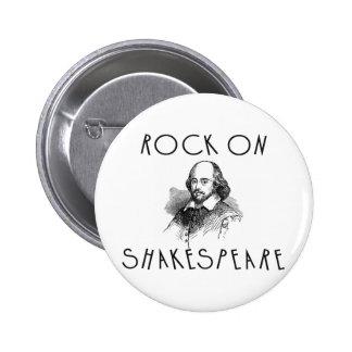Rock On Shakespeare 6 Cm Round Badge
